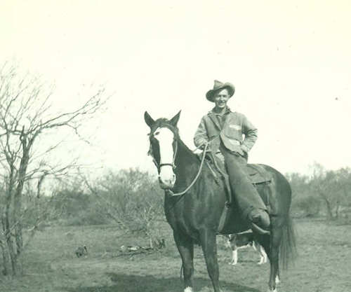 John Quince Adams on quarter horse Tiger