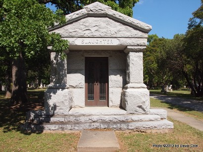 Dallas TX Greenwood Cemetery Col C C Slaughter Tomb
