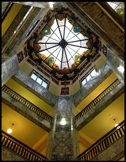 Skylight of Johnson County Courthouse, Cleburne, Texas
