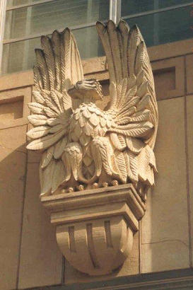 Comanche County Courthouse eagle, Comanche, Texas