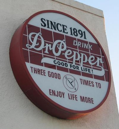 Dr Pepper Museum sign,  Dublin, Texas