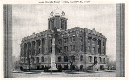Cooke County Courthouse, Gainesville, Texas 1930s photo