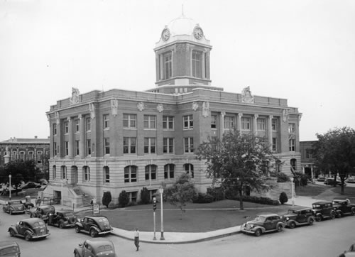 Cooke County Courthouse, Gainesville, Texas 1939 photo