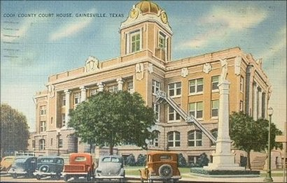 Cooke County Courthouse, Gainesville, Texas late 1930s photo