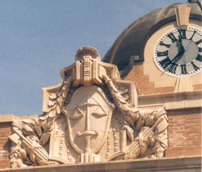 Gainesville TX Cooke County Courthouse Clock and architectural detail