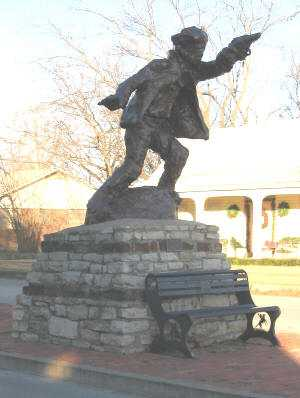 Billy The Kid Statue, Hico Texas