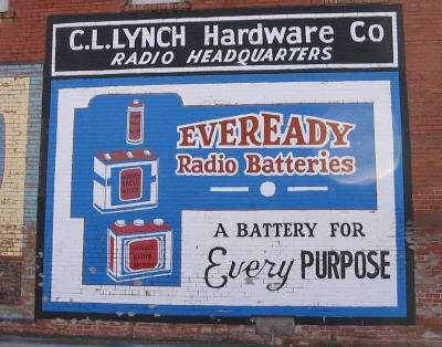 Everready Radio Batteries painted sign  Hico Texas