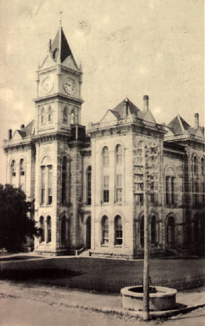 Meridian Texas - 1886 Bosque County Courthouse with clock tower