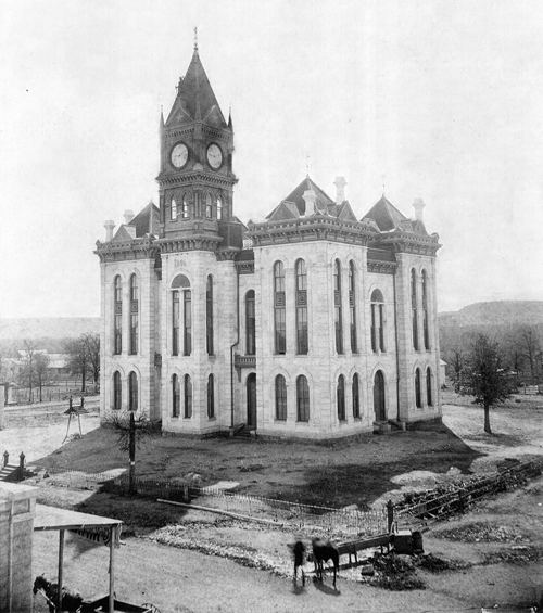The 1886 Bosque County Courthouse vintage photo