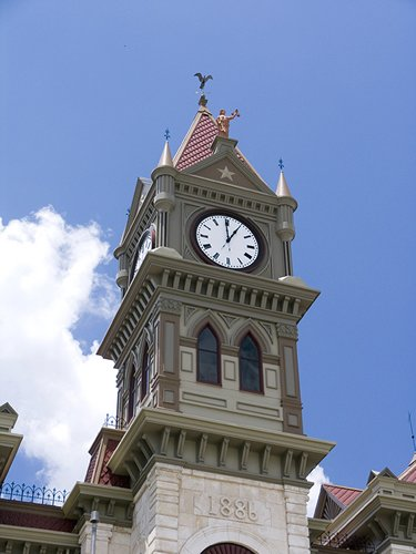 Bosque County Courthouse Clock Tower,  Meridian TX