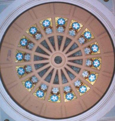 McLennan County Courthouse dome skylight, Waco, Texas