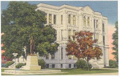 Milam County courthouse, Cameron, Texas old photo