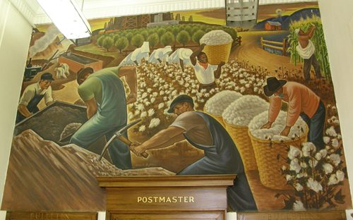 Rockdale Texas Post Office Mural Industry in Rockdale by Maxwell Starr