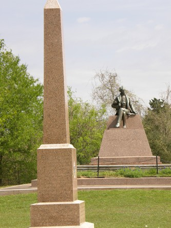 Stephen F. Austin statue and obelisk