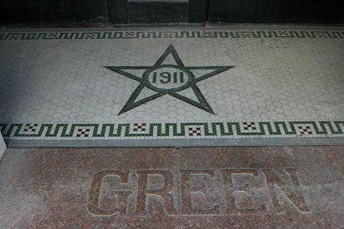 Shiner Texas 1911 Green Building tilework