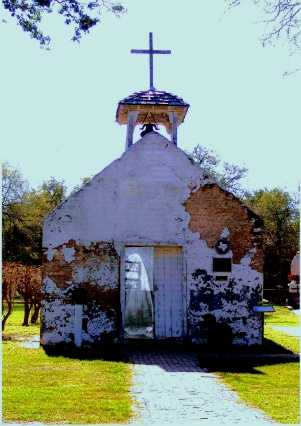 La Lomita Chapel showing ghost, La Lomita Texas