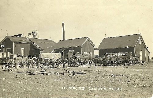 Carlton TX Cotton Gin circa 1910