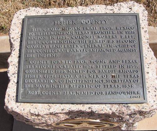 TX - Fisher County Centennial Marker