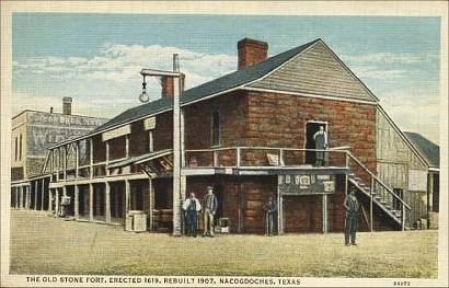 The Old Stone Fort, Nacogdoches, Texas old postcard