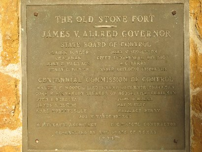 Nacogdoches TX - Old Stone Fort plaque