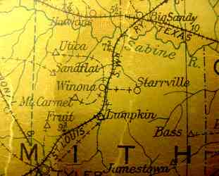 Smith County 1906 postal map