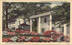 Tyler home with rose garden