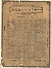Kent County map by O. Henry