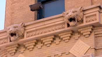 Fort Worth Texas Flat Iron Building Panther gargoyles