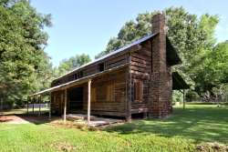 Gaines-Oliphint House oldest standing hand hewn log structure in Texas