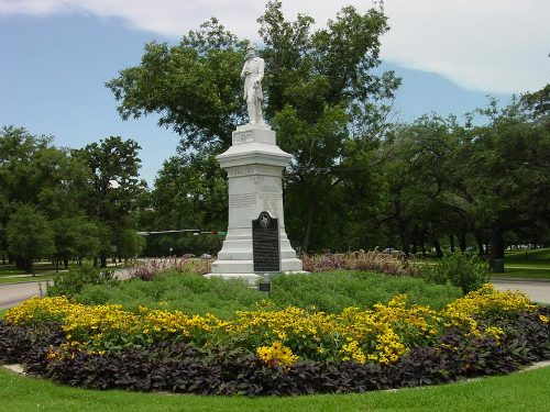 The statue of Dick Dowling - Houston