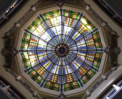 TX 1910 Harris County Courthouse Dome Skylight