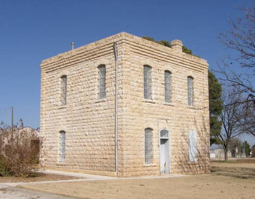 Glasscock County old stone jail, Garden City, Texas