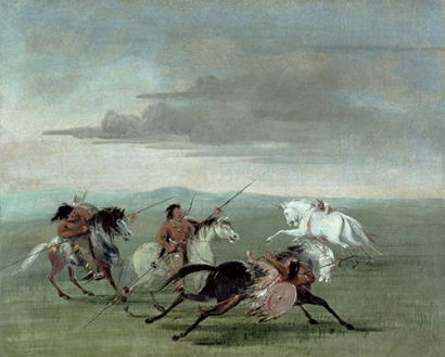 Comanche Warriors by George Catlin