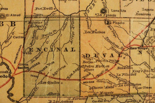 1882 TX Encinal and Duval County Map