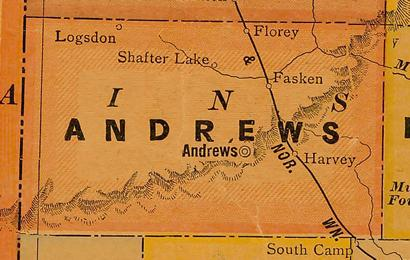 TX - Andrew County 1920s map