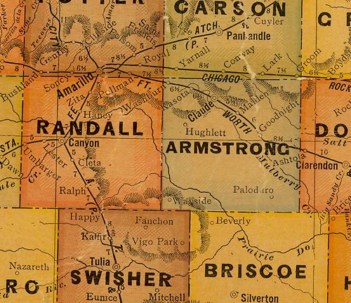 TX Armstrong  County 1920s Map