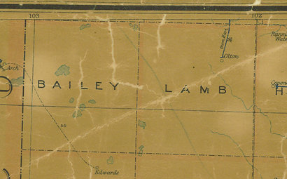 TX Bailey County 1907 postal map