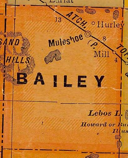 TX Bailey County 1920s map