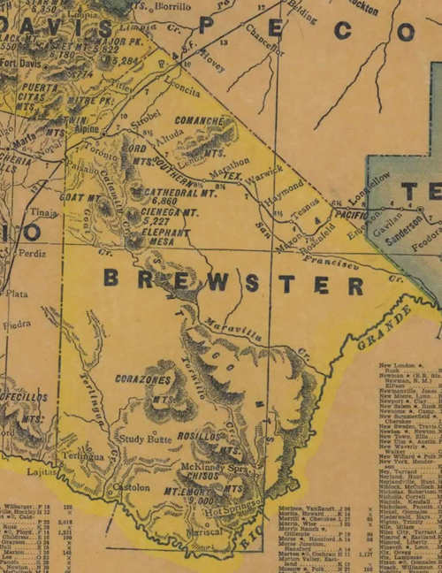 TX Brewster County 1940s Map