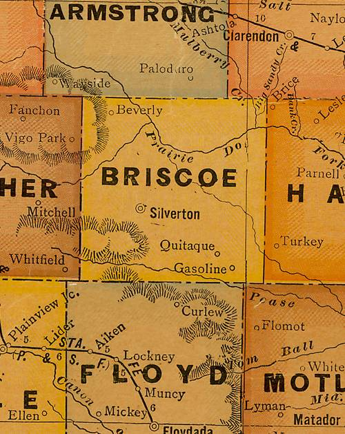 TX Briscoe County 1920s Map