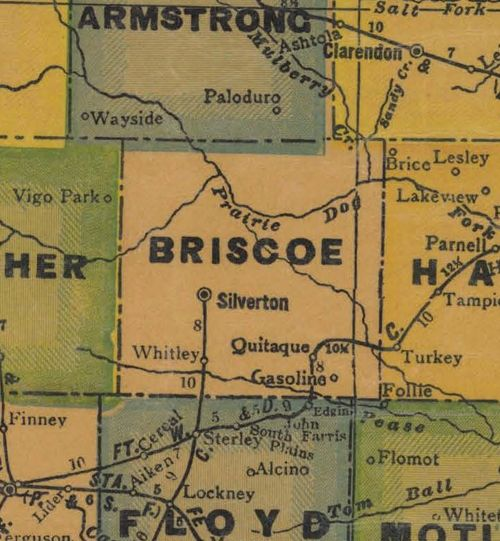 TX Briscoe  County 1940s Map