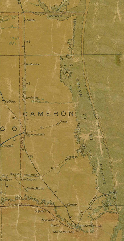 TX Cameron County 1920s Map