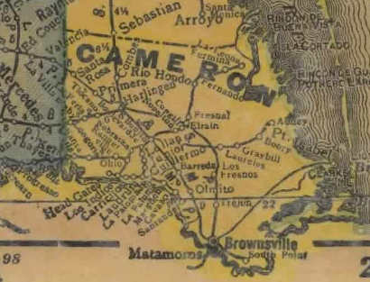 Cameron County Texas 1940s map