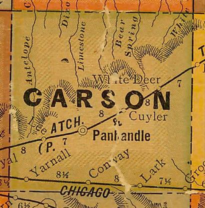 Carson County TX 1920s Map