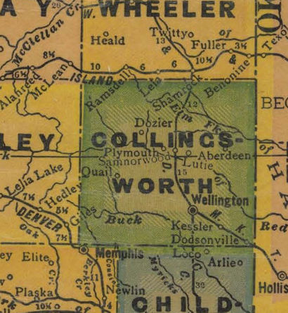 TX Collingsworth County 1940s Map