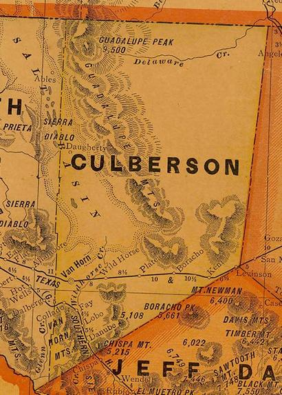Culberson County 1920s map
