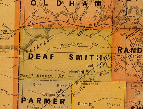 TX Deaf Smith County 1920s Map