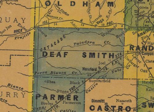 TX Deaf Smith County 1940s Map