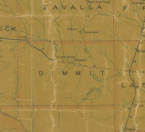 TX Dimmit County 1907 Postal Map