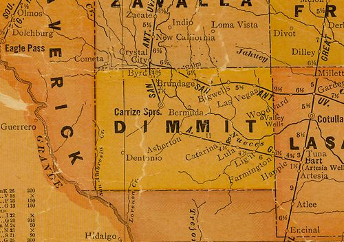 TX Dimmit County 1920s map